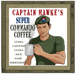 Captain Hawke's Super Commando Coffee